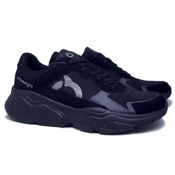 Sepatu Casual Ortuseight Crux - Black/Silver