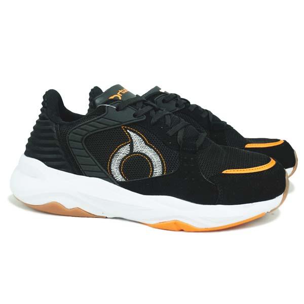 Sepatu Casual Ortuseight Farancia - Black/Ortrange/White