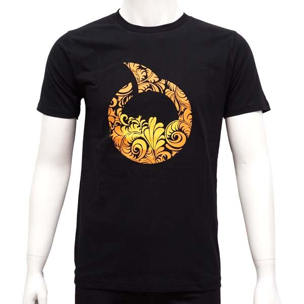 Kaos Ortuseight Flora T-Shirt - Black/Ortrange/Yellow