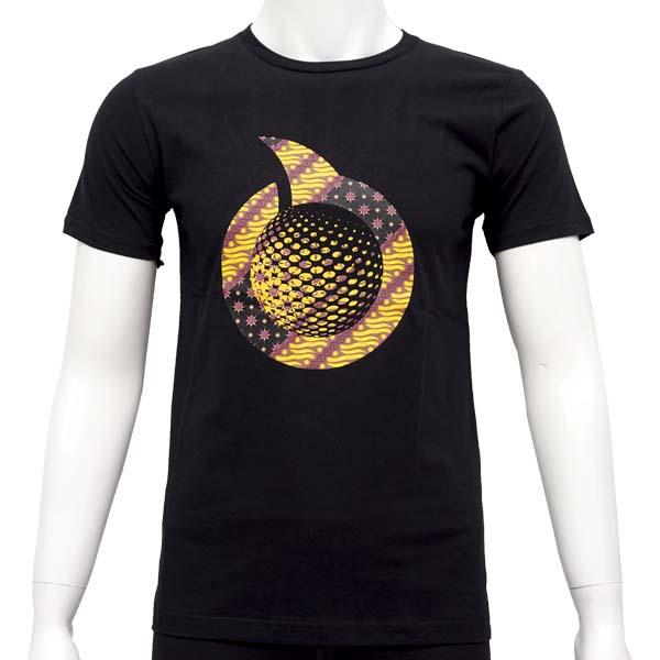 Kaos Ortuseight Herritage T-Shirt - Black/Batik