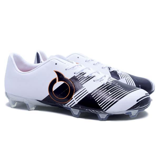 Sepatu Bola Ortuseight Libero FG - Black/White/Ortrange