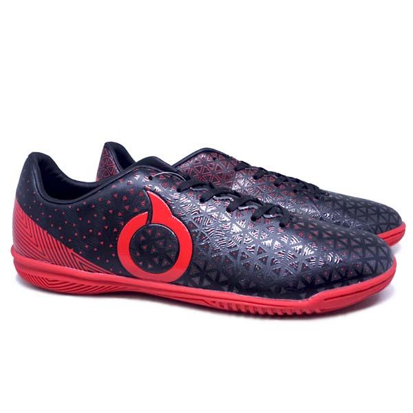 Sepatu Futsal Ortuseight Medians IN - Black/Ortred