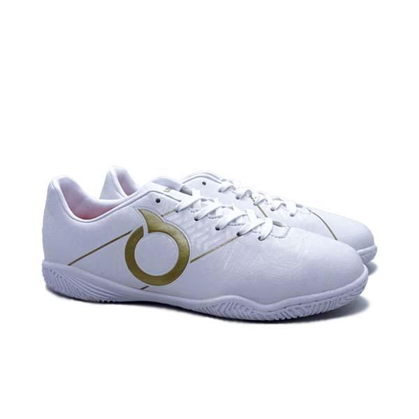 Sepatu Futsal Anak Ortuseight Sabre IN JR - Off White/Gold