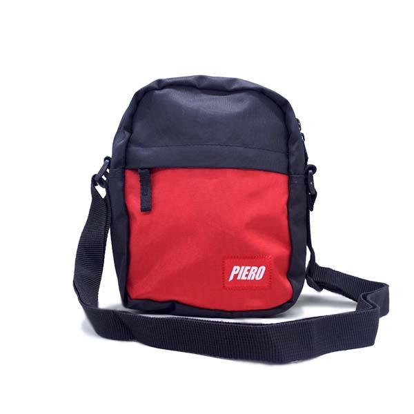 Tas Piero Ergo Sling Bag - Black/Red