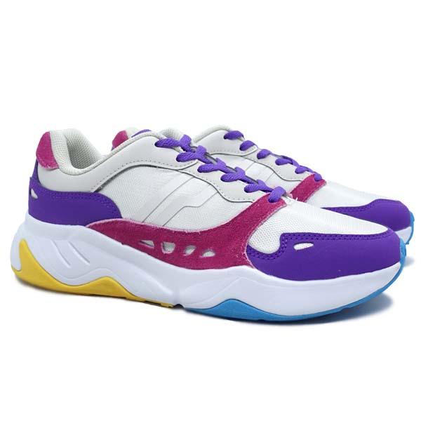 Sepatu Casual Piero Ergo W - Grey/Violet/white
