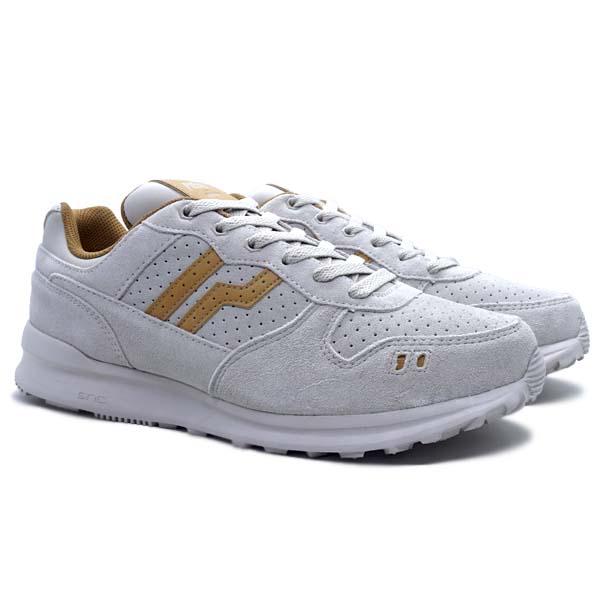 Sepatu Casual Piero Jogger PRM - Grey/Brown