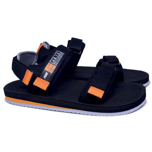 Sandal Piero Otium - Black/Grey/Orange
