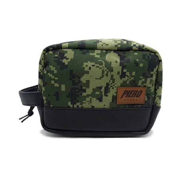 Tas Piero Pouch Bag - Green Camo/Black