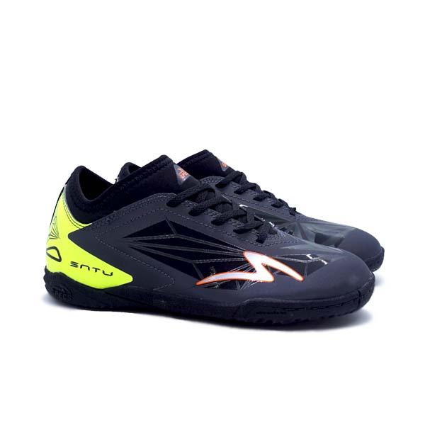 Sepatu Futsal Anak Specs Accelerator Satu IN JR - Gunmetal/Safety Yellow