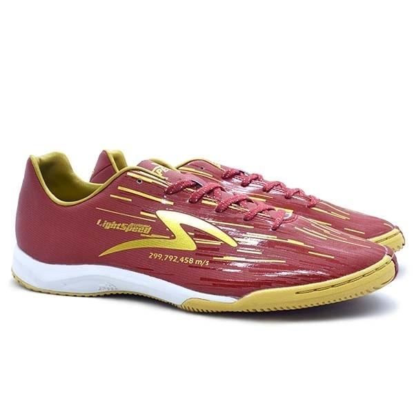 Sepatu Futsal Specs Accelerator Lightspeed Reborn IN - Maroon Red