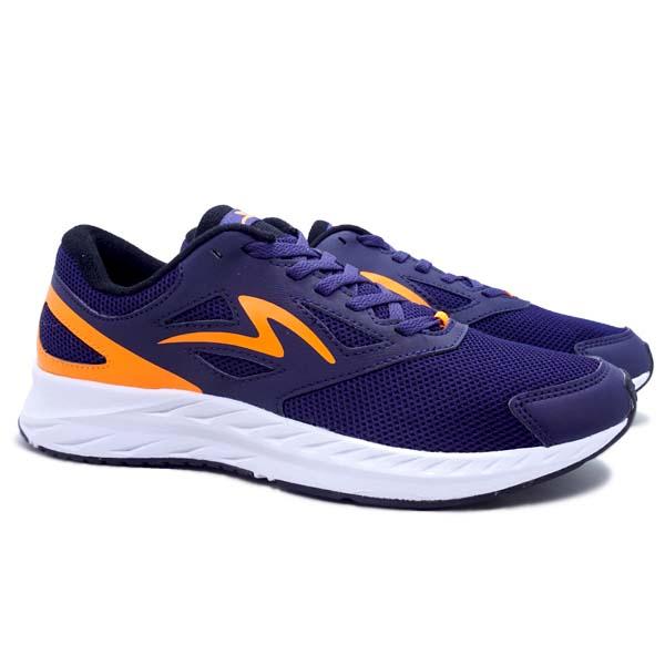 Sepatu Running Specs Alphacharge - Indigo/Orange Clownfish/White