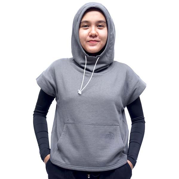 Specs Rue Hijab Scuba Hoodie W - Grey