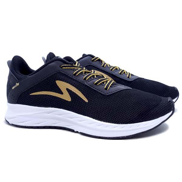 Sepatu Running Specs Skyfleet - Black/Pale Gold