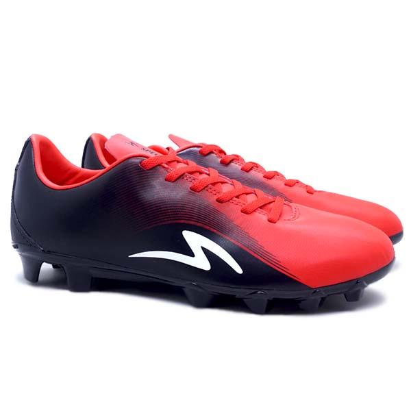Sepatu Bola Specs Sonicwave FG - Black/Emeror Red
