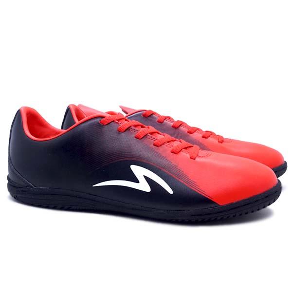 Sepatu Futsal Specs Sonicwave IN - Black/Emeror Red