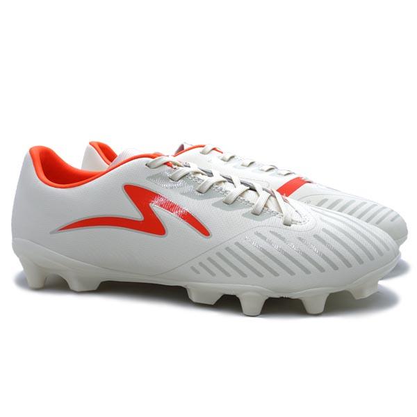Sepatu Bola Specs Swervo Hydra Pro FG - Antique White/Oxy Fire