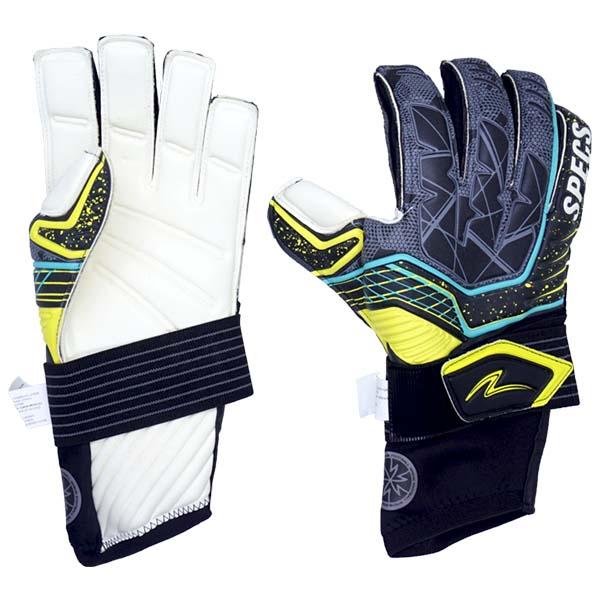 Sarung Tangan Kiper Specs Zulu Pro Gk Gloves - Black/Safety Yellow/White