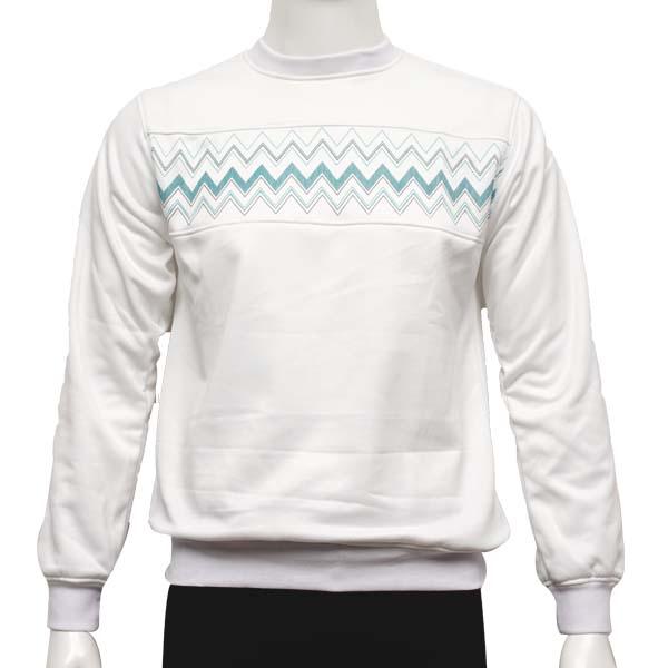Jaket Elastico Geomath Sweater - White
