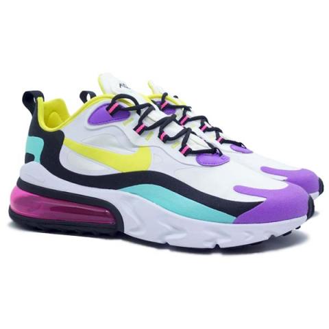 Sepatu Casual Nike Air Max 270 React - White/Dynamic Yellow/Black