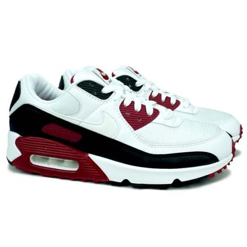Sepatu Casual Nike Air Max 90 - White/White Maroon