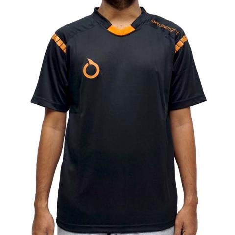 Baju Ortuseight Helios Jersey - Black/Ortrange