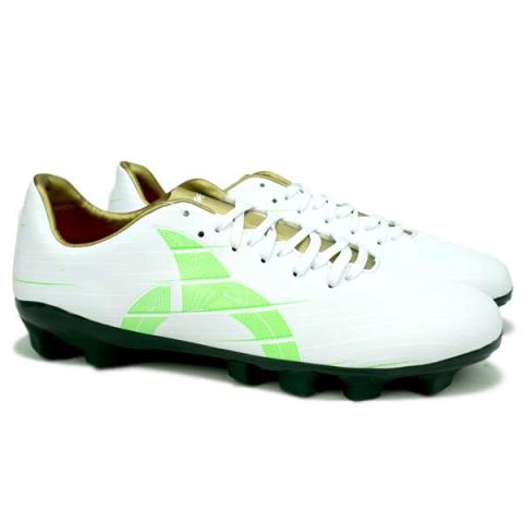 Sepatu Bola Ortuseight Raptor FG - White/Emerald/Gold