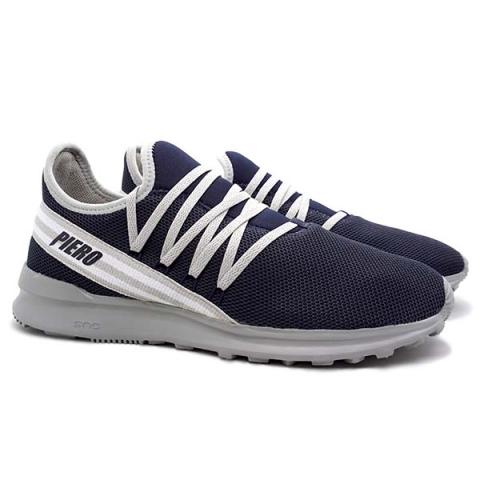 Sepatu Casual Piero Capt 38 - Navy/Grey