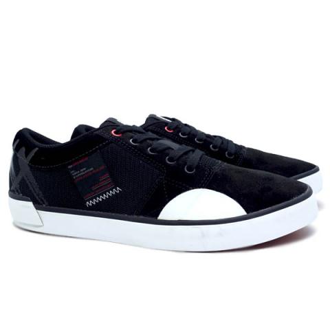 Sepatu Casual Piero Suedo XX - Black/White