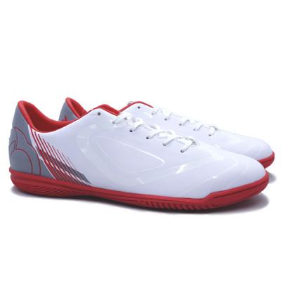 Sepatu Futsal Ortuseight Vulcan IN - White/Ortred/Grey